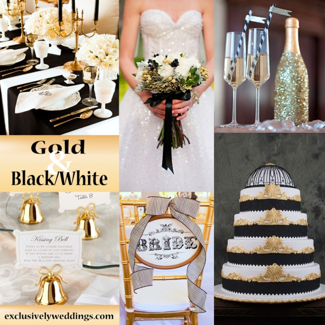 gold-with-black-and-white-wedding-colors