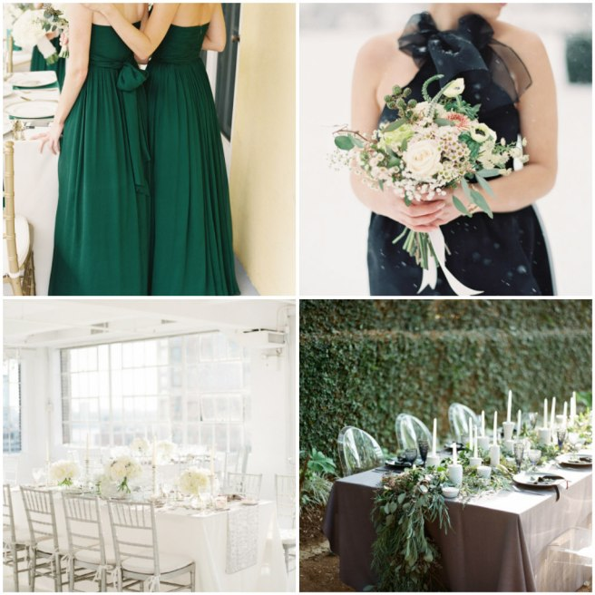 Style Me Pretty winter wedding color pallets