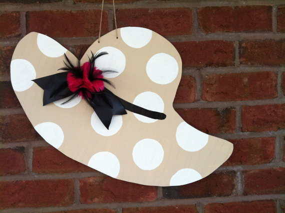 Southern Hat Door hanger, kentucky derby hat door hanger, hat decor