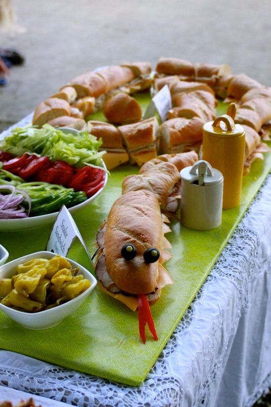 Safari party food table
