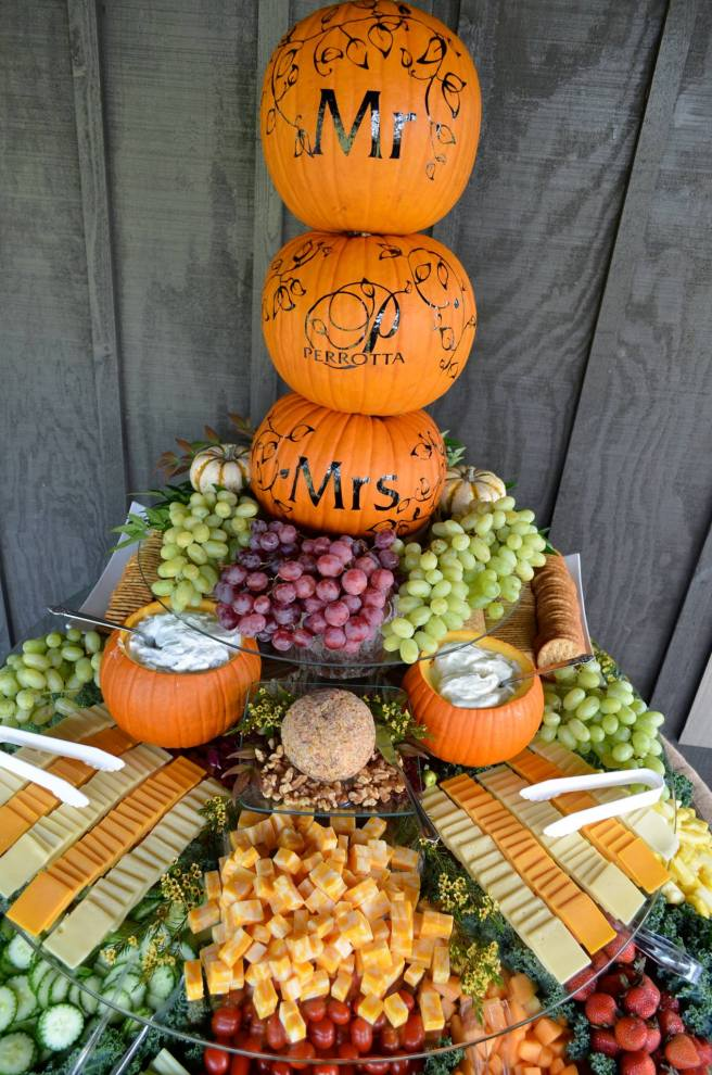 Fall inspired fruit and vegetable food station