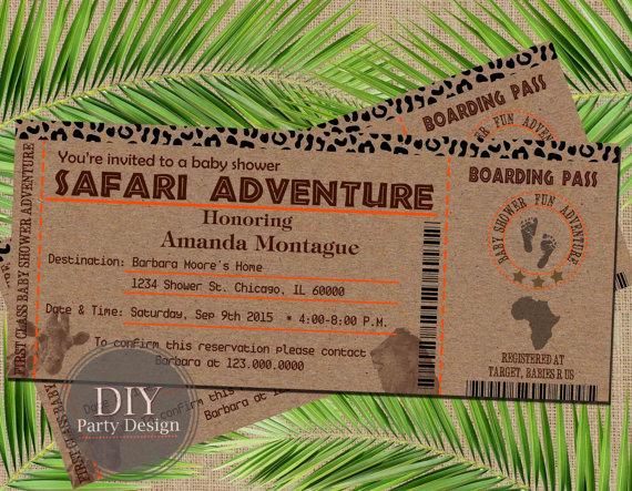 Safari Party invite
