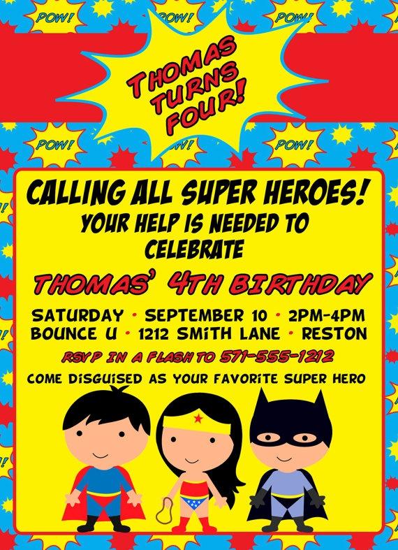 Superhero-Invitation