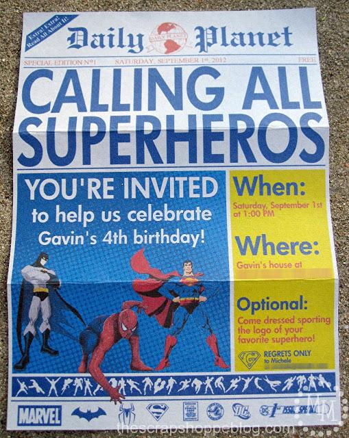 superhero newspaper birthday invitation 10
