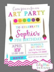 art party invite