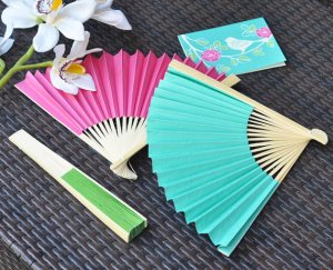 paper fan wedding favor
