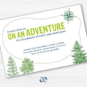 Adventure party invite