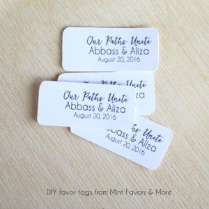 trail mix favor tags