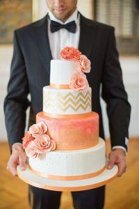peach gold cake