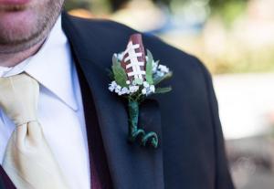 Football themed wedding