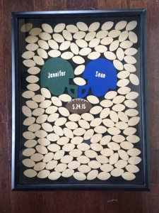 football inspired guestbook