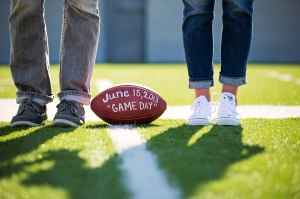 save the date football wedding