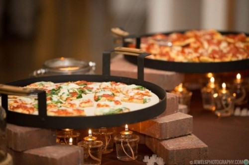 pizza bar food station