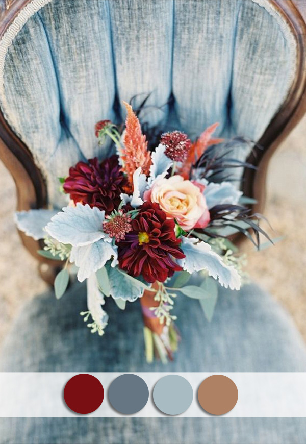 burgundy-and-dusty-blue-october-wedding-colors-for-fall-2015
