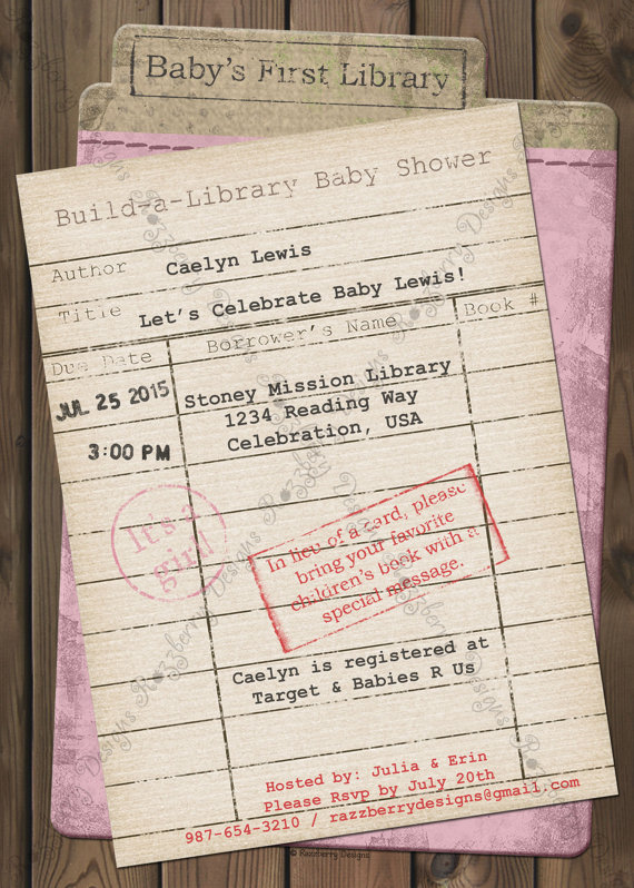 storybook baby shower invite