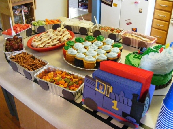 train birthday party