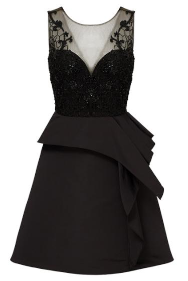 black-embroidered-cocktail-dress