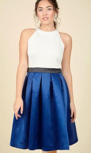 blue-and-white-a-line-dress
