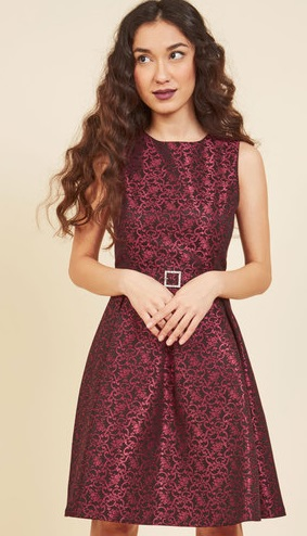 red-a-line-dress