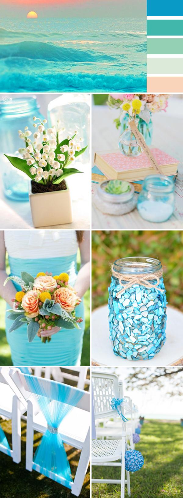 island blue wedding inspiration