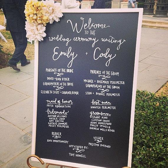 ceremony details for the wedding program social event planning